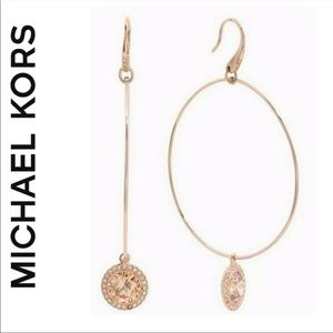 Michael Kors Diamond Hoop Earrings